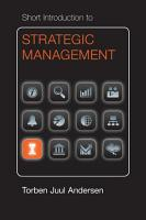 Short Introduction to Strategic Management PDF