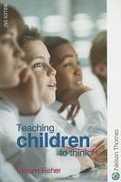 Teaching Children to Think PDF