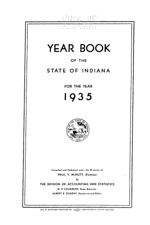Year Book of the State of Indiana