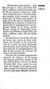 Mémoires chronologiques pour servir à l'histoire de Dieppe, et à celle de la navigation françoise: avec un recueil abrégé des privileges de cette ville, Volume1