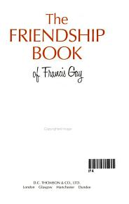 The Friendship Book  2001 PDF
