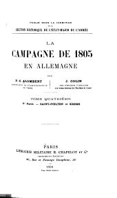 La Campagne de 1805 en Allemagne: Saint Poelten et Krems