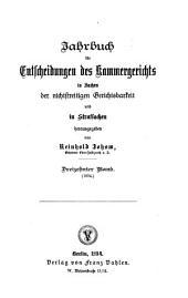 Jahrbuch für Entscheidungen des Kammergerichts in Sachen der nichtstreitigen Gerichtsbarkeit und in Strafsachen: Band 13
