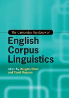 The Cambridge Handbook of English Corpus Linguistics PDF