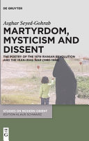 Martyrdom, Conflict and Mysticism