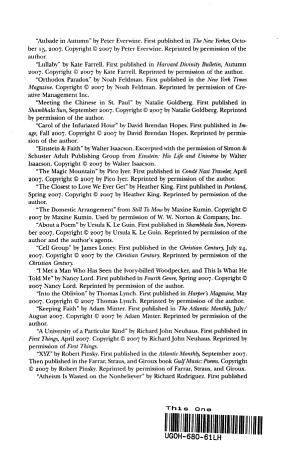 The Best American Spiritual Writing 2008 PDF