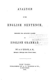Analysis of the English sentence, designed for advanced classes
