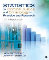 Statistics for Criminal Justice and Criminology in Practice and Research PDF