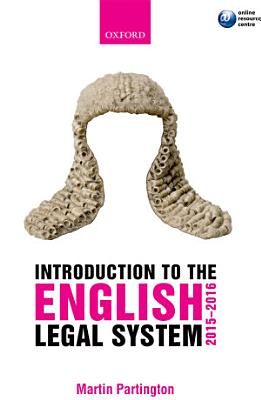 Introduction to the English Legal System 2015 2016