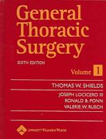 General Thoracic Surgery PDF