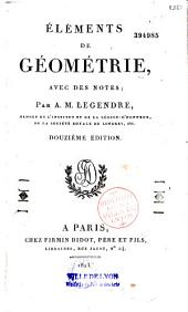 Eléments de géométrie, avec des notes
