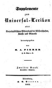 Universal-lexikon, oder Vollständiges encyclopädisches wörterbuch: Band 2