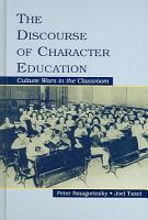 The Discourse of Character Education PDF