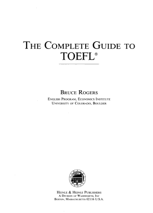 The Complete Guide to TOEFL PDF