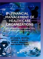 Financial Management of Health Care Organizations PDF
