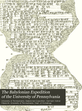 The Babylonian Expedition of the University of Pennsylvania: Cuneiform text, Volume 14