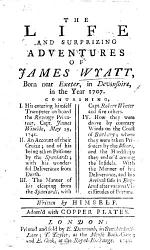 The Life and Surprising Adventures of J. W. ... Written by Himself; ... with Copper Plates