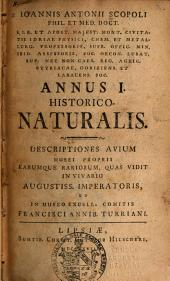 Ioannis Antonii Scopoli... Annus I-[V] Historico Naturalis...