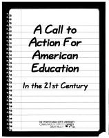 A Call to Action for American Education in the 21st Century PDF