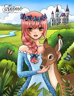 Anime Coloring Book for Adults 1 & 2