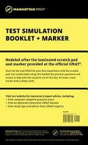 Manhattan GMAT Test Simulation Booklet w  Marker