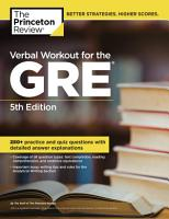 Verbal Workout for the GRE  5th Edition PDF