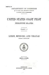 United States Coast Pilot, Philippine Islands: Part 1