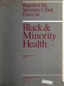 Report of the Secretary's Task Force on Black & Minority Health
