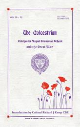 Colchester Royal Grammar School and The Great War