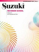 Suzuki Recorder School (Soprano and Alto Recorder), Vol 6: Acc.