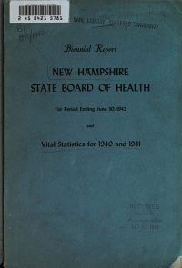 Report of the State Board of Health of the State of New Hampshire  1940 41 PDF