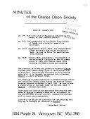 Minutes of the Charles Olson Society