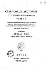 Classicorum auctorum e Vaticanis codicibus editorum...