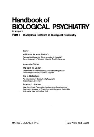 Handbook of Biological Psychiatry