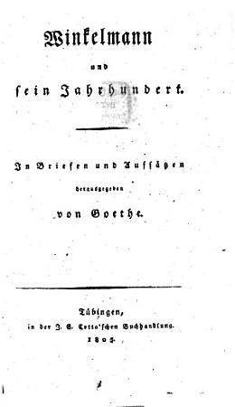 Winkelmann und sein Jahrhundert PDF