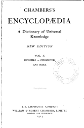 Chambers's encyclopaedia: a dictionary of universal knowledge