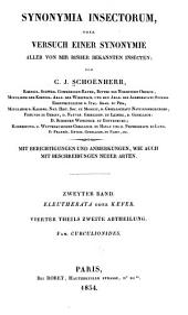Genera et species curculionidum, cum synonymia hujus familiæ: Band 2,Ausgabe 1