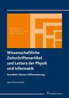 Wissenschaftliche Zeitschriftenartikel und Letters der Physik und Informatik PDF