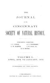 The Journal of the Cincinnati Society of Natural History: Volumes 1-2