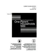 Housing characteristics of one-parent households, 1989