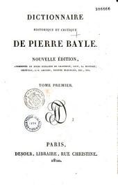 Dictionnaire historique et critique par Pierre Bayle
