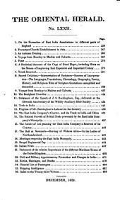 The Oriental Herald and Journal of General Literature: Volume 23