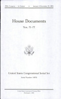 United States Congressional Serial Set  Serial No  14976  House Documents Nos  71 77 PDF