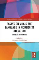 Essays on Music and Language in Modernist Literature PDF