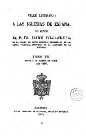 Viage [sic] literario a las iglesias de España, 7