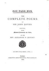The Complete Poems of Sir John Davies: Volume 1