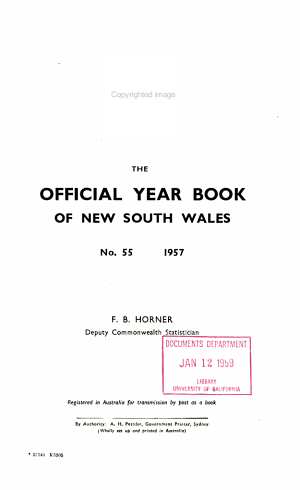Official Yearbook of New South Wales