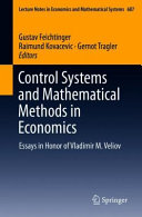 Control Systems and Mathematical Methods in Economics
