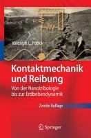 Kontaktmechanik und Reibung PDF