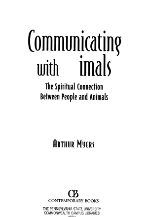 Communicating With Animals PDF